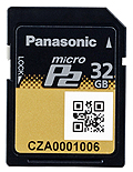 Panasonic 32GB MicroP2 Card
